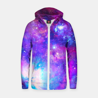 Thumbnail image of Into A Galaxy Zip up hoodie, Live Heroes
