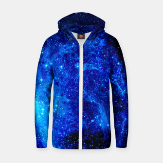 Thumbnail image of Deeper into the Space Zip up hoodie, Live Heroes