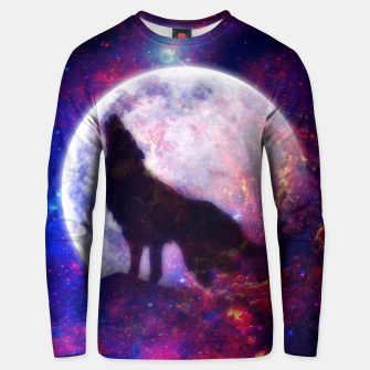 Thumbnail image of Cosmic Wolf Unisex sweater, Live Heroes