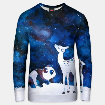 Thumbnail image of Panda and Deer Unisex sweater, Live Heroes