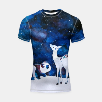 Thumbnail image of Panda and Deer Shortsleeve rashguard, Live Heroes