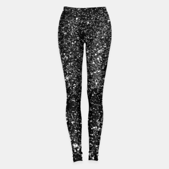 Thumbnail image of Black Night Glitter #1 #shiny #decor #art Leggings, Live Heroes
