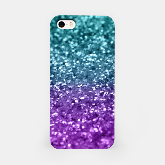 Thumbnail image of Purple Teal MERMAID Girls Glitter #1 #shiny #decor #art  iPhone-Hülle, Live Heroes