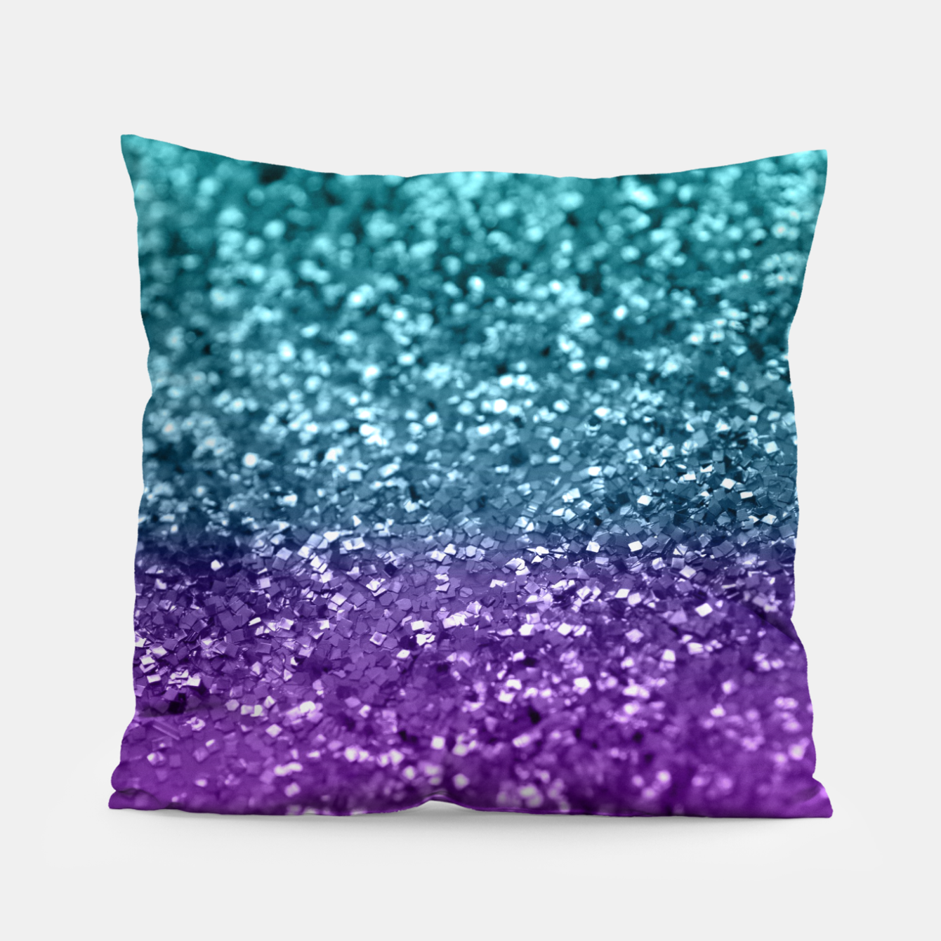 Image of Purple Teal MERMAID Girls Glitter #1 #shiny #decor #art  Kissen - Live Heroes