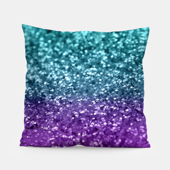 Thumbnail image of Purple Teal MERMAID Girls Glitter #1 #shiny #decor #art  Kissen, Live Heroes