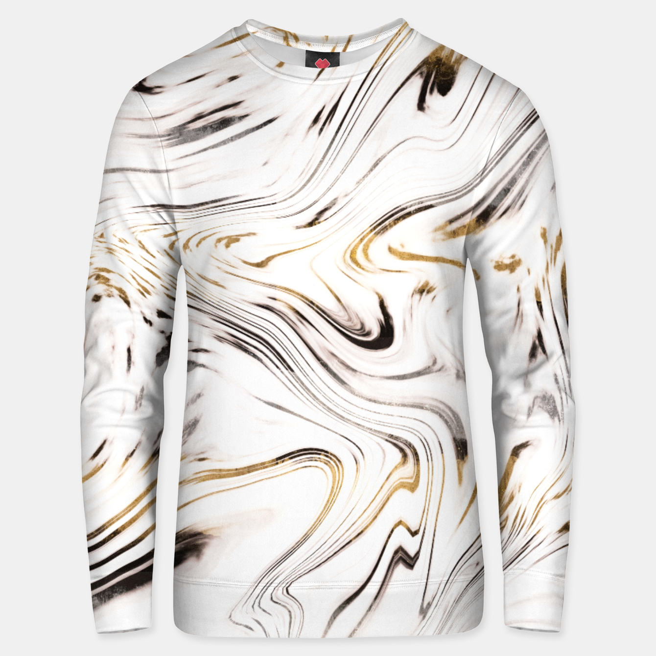 Zdjęcie Liquid Gold Silver Black Marble #1 #decor #art  Unisex sweatshirt - Live Heroes