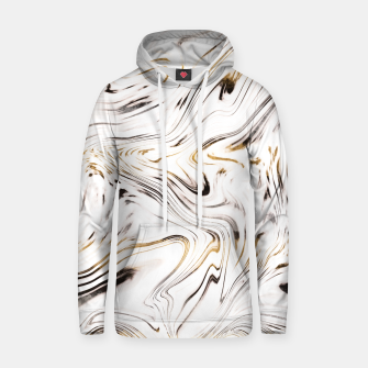 Thumbnail image of Liquid Gold Silver Black Marble #1 #decor #art  Kapuzenpullover, Live Heroes