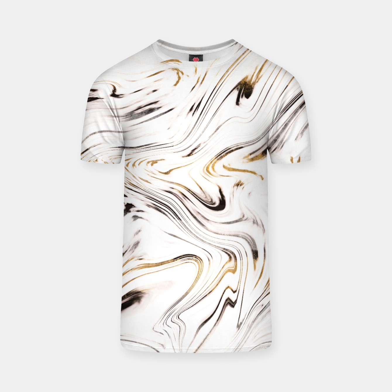 Zdjęcie Liquid Gold Silver Black Marble #1 #decor #art  T-Shirt - Live Heroes