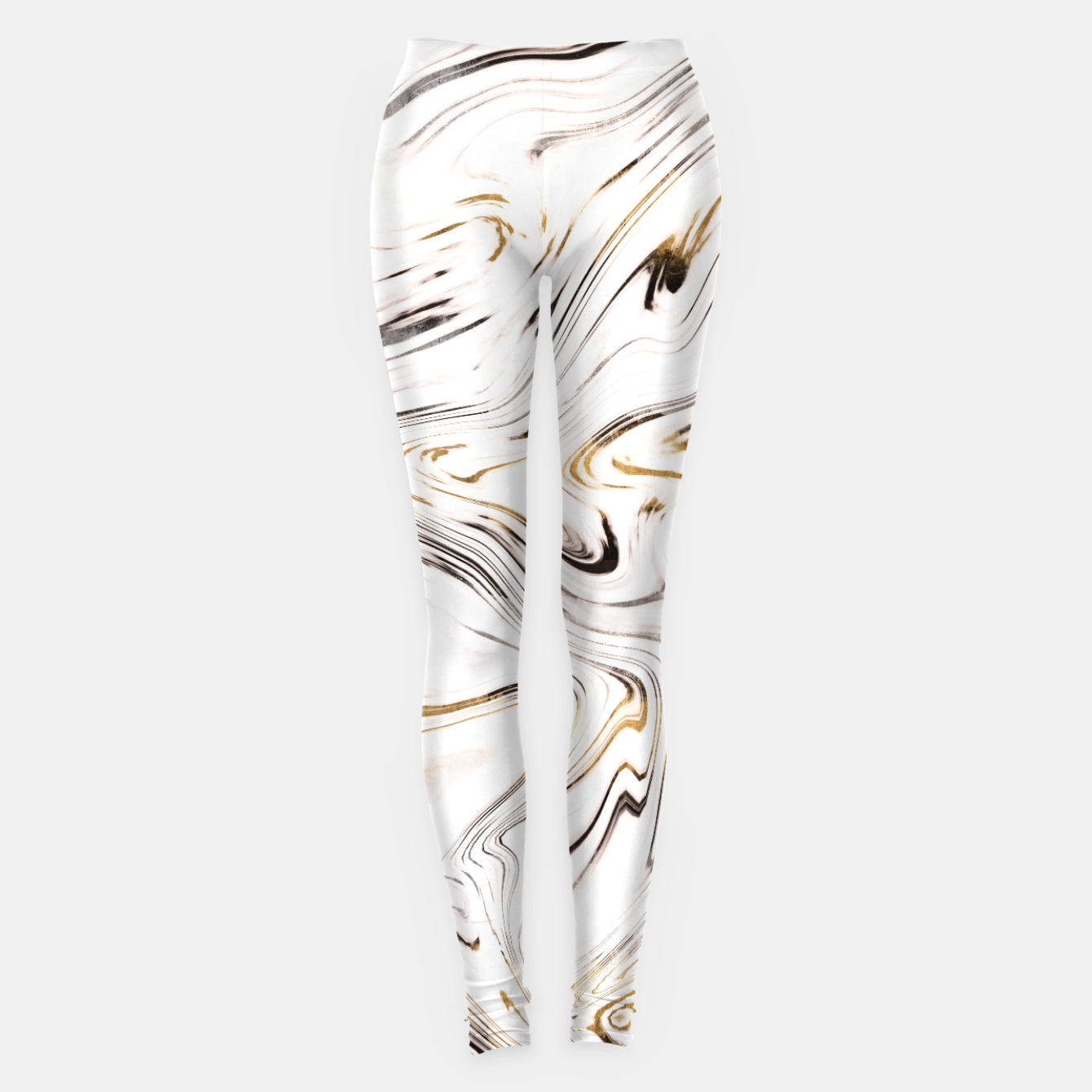 Zdjęcie Liquid Gold Silver Black Marble #1 #decor #art  Leggings - Live Heroes