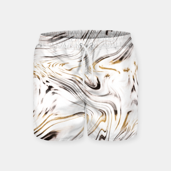 Thumbnail image of Liquid Gold Silver Black Marble #1 #decor #art  Badeshorts, Live Heroes