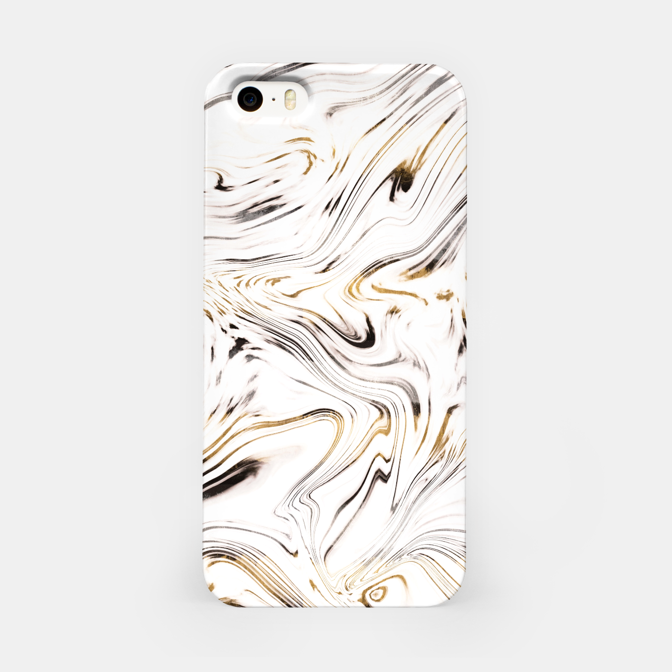 Zdjęcie Liquid Gold Silver Black Marble #1 #decor #art  iPhone-Hülle - Live Heroes