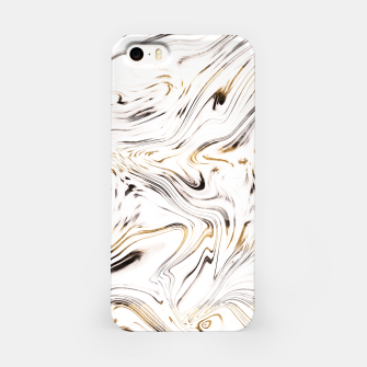 Liquid Gold Silver Black Marble #1 #decor #art  iPhone-Hülle obraz miniatury