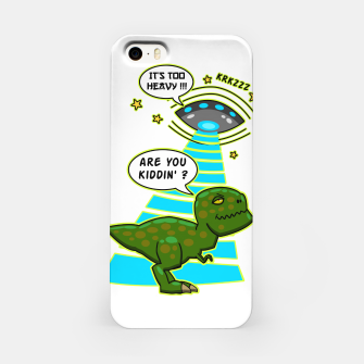 Thumbnail image of Funny T-Rex UFO Abduction Fail iPhone-Hülle, Live Heroes