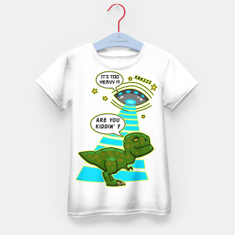Miniaturka Funny T-Rex UFO Abduction Fail T-Shirt für kinder, Live Heroes