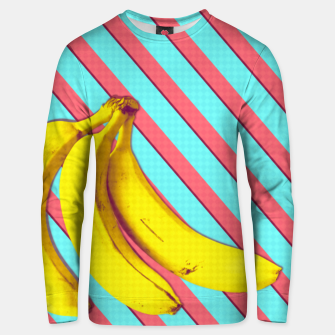 Thumbnail image of Bananas and stripes Unisex sweater, Live Heroes