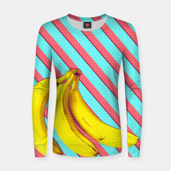 Thumbnail image of Bananas and stripes Women sweater, Live Heroes