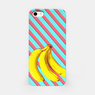 Thumbnail image of Bananas and stripes iPhone Case, Live Heroes