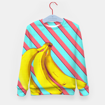 Thumbnail image of Bananas and stripes Kid's sweater, Live Heroes