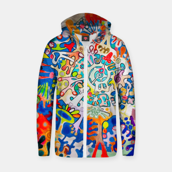 Thumbnail image of BIOMACHINE Zip up hoodie, Live Heroes