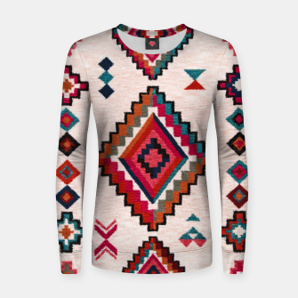 Thumbnail image of Traditional Boho Moroccan Anthropologie Artwork Women sweater, Live Heroes