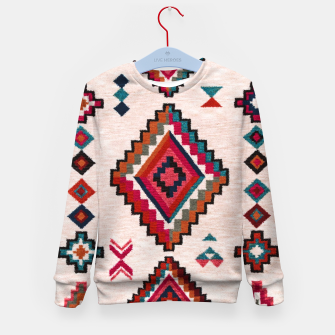 Miniatur Traditional Boho Moroccan Anthropologie Artwork Kid's sweater, Live Heroes