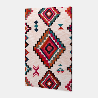 Miniatur Traditional Boho Moroccan Anthropologie Artwork Canvas, Live Heroes