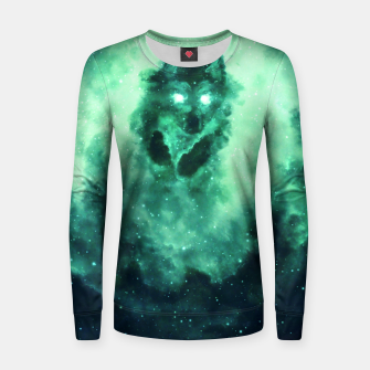 Thumbnail image of Wolf Nebula Women sweater, Live Heroes
