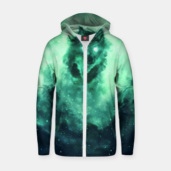Thumbnail image of Wolf Nebula Zip up hoodie, Live Heroes