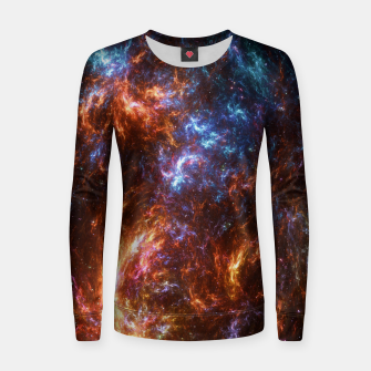 Thumbnail image of Ice and Fire Nebula Women sweater, Live Heroes