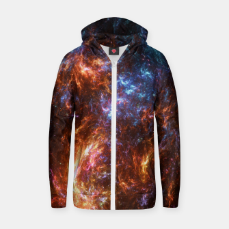 Thumbnail image of Ice and Fire Nebula Zip up hoodie, Live Heroes