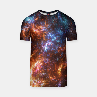 Thumbnail image of Ice and Fire Nebula T-shirt, Live Heroes