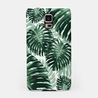Tropical Monstera Jungle Leaves Pattern #1 #tropical #decor #art Handyhülle für Samsung obraz miniatury