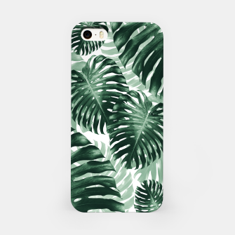 Tropical Monstera Jungle Leaves Pattern #1 #tropical #decor #art iPhone-Hülle obraz miniatury