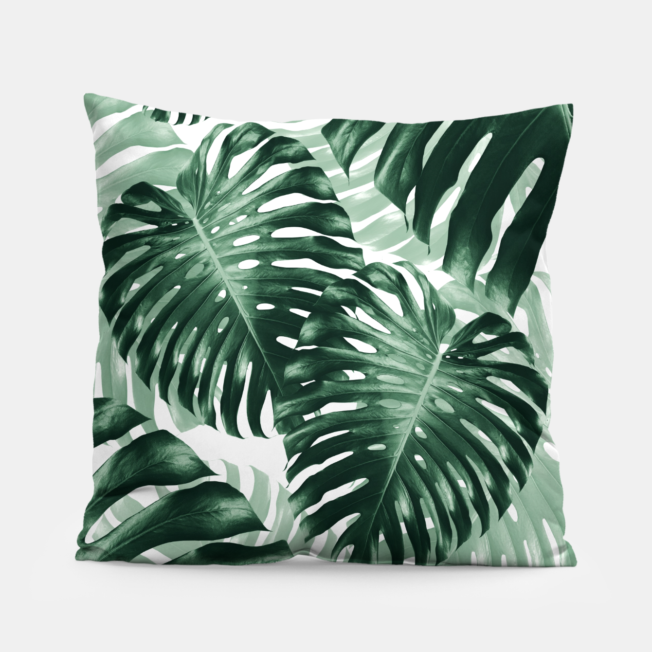 Zdjęcie Tropical Monstera Jungle Leaves Pattern #1 #tropical #decor #art Kissen - Live Heroes