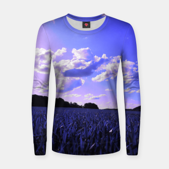 meadow and clouds db Women sweater thumbnail image