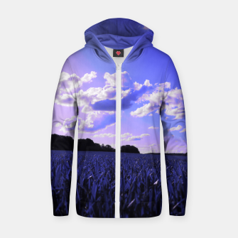 meadow and clouds db Zip up hoodie thumbnail image