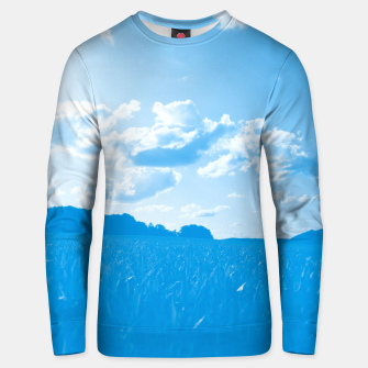 meadow and clouds wb Unisex sweater miniature
