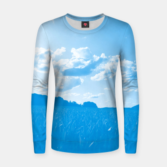 meadow and clouds wb Women sweater miniature