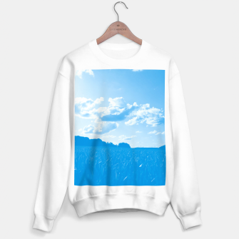 meadow and clouds wb Sweater regular miniature