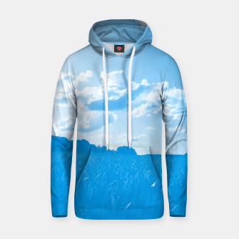 meadow and clouds wb Hoodie miniature