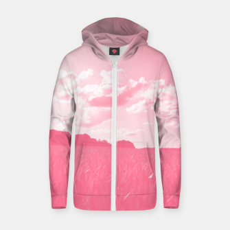 meadow and clouds pw Zip up hoodie thumbnail image