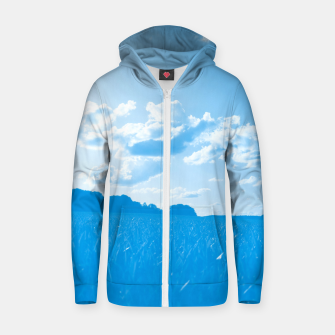 meadow and clouds wb Zip up hoodie miniature