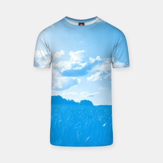 meadow and clouds wb T-shirt miniature