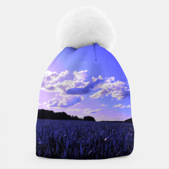 meadow and clouds db Beanie thumbnail image