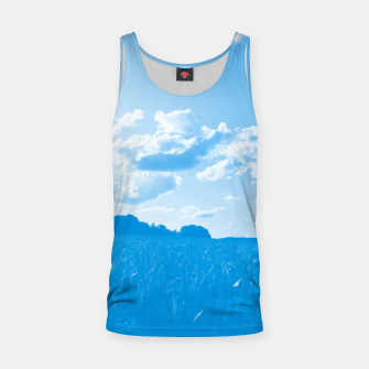 meadow and clouds wb Tank Top miniature