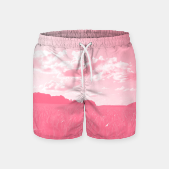 meadow and clouds pw Swim Shorts thumbnail image