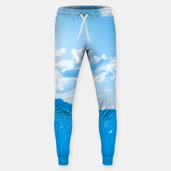 meadow and clouds wb Sweatpants miniature