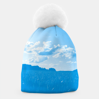 meadow and clouds wb Beanie miniature