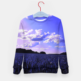 meadow and clouds db Kid's sweater thumbnail image
