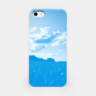 meadow and clouds wb iPhone Case miniature